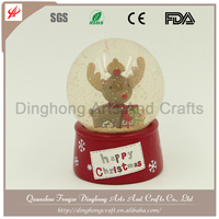 Custom High Quality Souvenirs Glass Snow Globe In Bulk Magnet Floating Acrylic Snow Globe