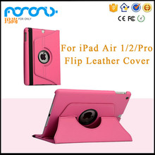 Tablet Accessories 360 Rotating Stand Flip PU Skin Cover Case For ipad air Tablet/palmtop computers