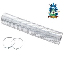 Aluminum exhaust air flexible spiral duct for ventilation system