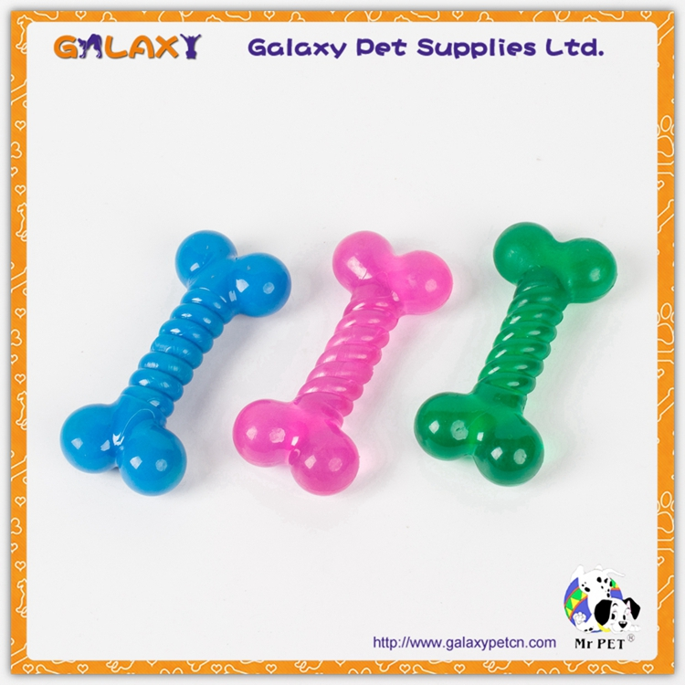 RTA07 China Colorful rubber dog chew toy /dog bone toys/ FDA Standard Food Grade Different Color Dog Chew Bone