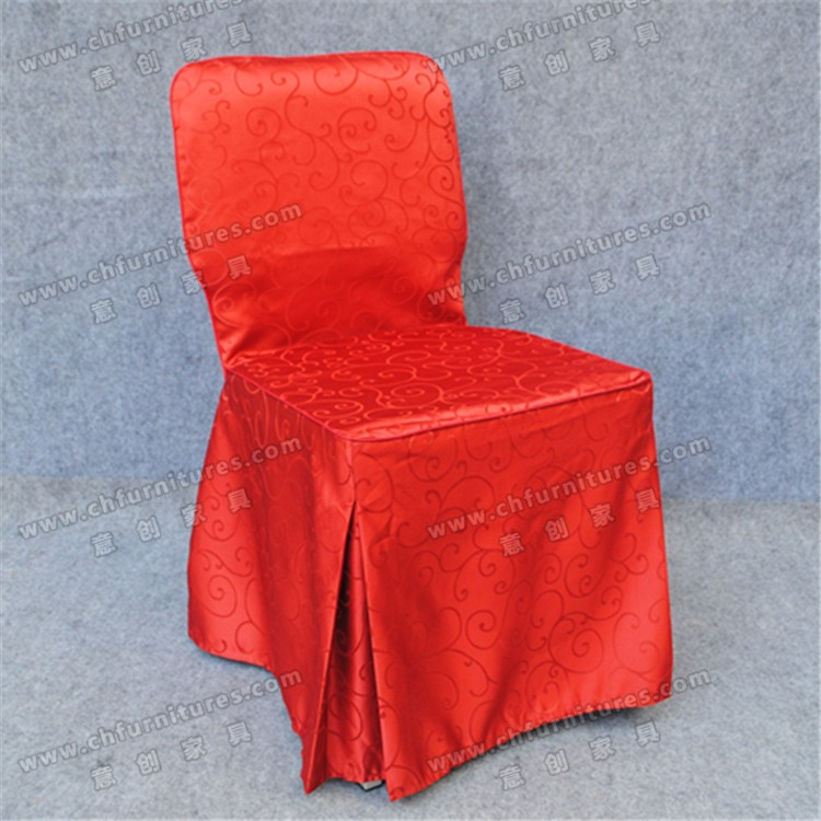 Banquet red chair cover cotton and polyester chair cover for weddings YC-863