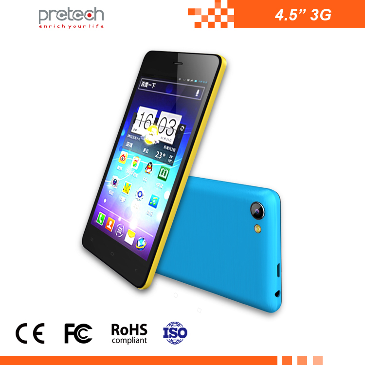 Factory price hot selling 4.5 inch 3G smartphone android Quad-core OEM 1400mAh dual sim