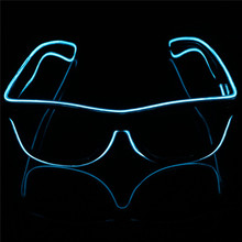 New promotional el wire sunglasses crazy carnival party