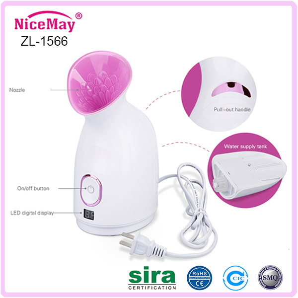 High-tech Nano care silver fox facial steamer
