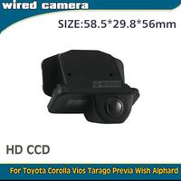 CHIYANG High quality wired wireless HD CCD car backup camera for Toyota Corolla 2011/2012/2013 Vios Tarago Previa Wish Alphard