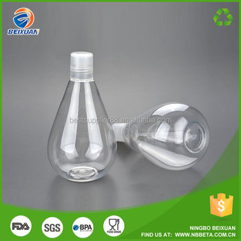 350ml light bulb bottle plastic light bulb bottle clean bottles