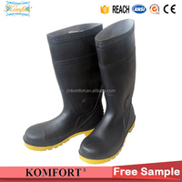 Rain boot pvc waterproof pvc safety boot Insulating industrial work safety boots