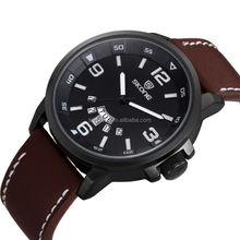 SKONE 9345 new coming big face men's army style watch