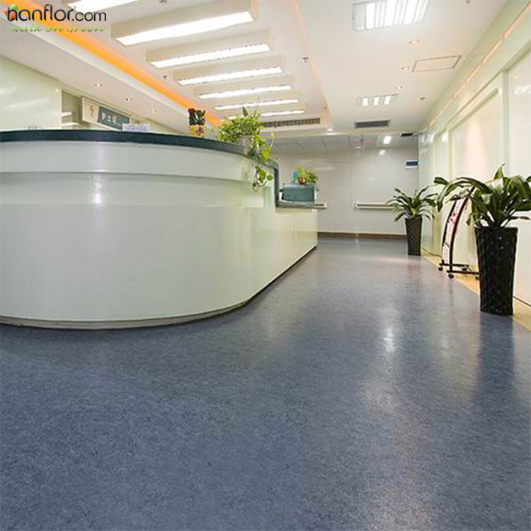 PVC anti-bacterial homogeneous vinyl <strong>flooring</strong> for hospital