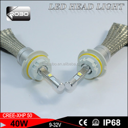 Easy installing CR.EE XHP50 car led headlight bulbs 9007 for car and motorcycle