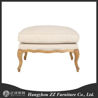 high quality comfortable wooden frame upholstery stool