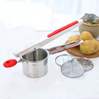 Stainless Steel Potato Ricer & Masher for Creamy, Smooth Mashed Potatoes