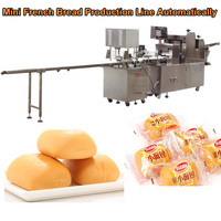 Fully Automatical Mini French Bread Production Line, small bread making machine