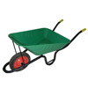 green color Wheel Barrow WB3800 with metal tray and solid wheel