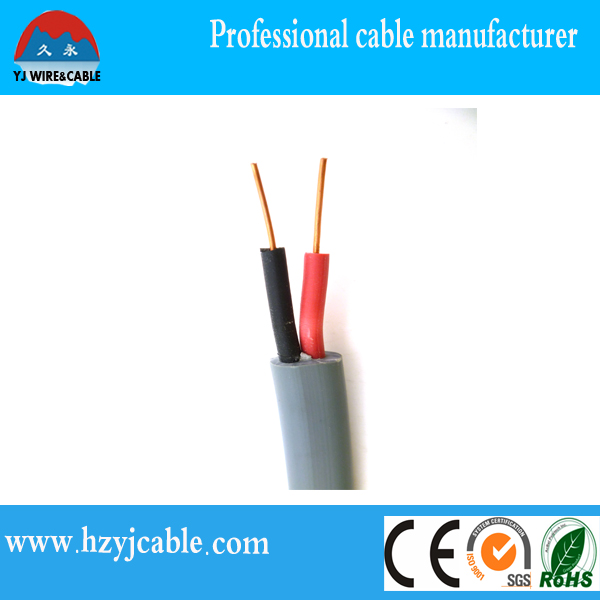 300/750V Copper/CCA Flat Electric Cable, Flat PVC Sheath Copper Wire,lighting cable from ningbo port