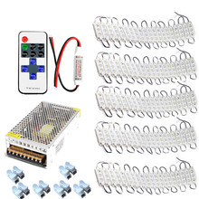 3 leds Injection Garland Waterproof LED Module 5630 for sign letter storefront cool white+ RF Controller +Power supply Free ship