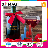Vibrant Colors OEM Package Available Vino Marker Wine Glass Writer