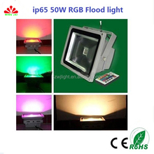 IP65 outdoor christmas RF wireless control 50W led rgb flood light