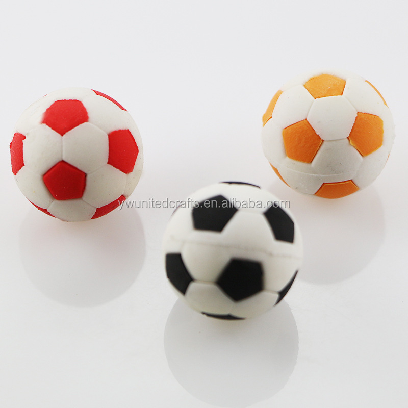 Kids Stationary Student Learning Gift School Rubbers Football Shape Eraser