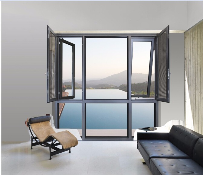Australia / New zealand aluminium sliding door/double glazed aluminium windows and doors with AS/NZ2047,2208 certificates