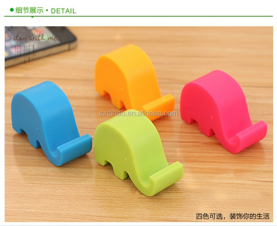 DIHAO Creative Cute Desktop Elephant Shaped Silicone Mobile Phone Holder
