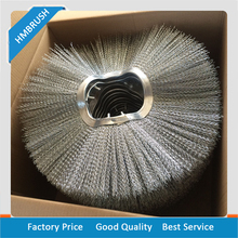 Steel Metal road sweeper brushes snow cleaning brushes