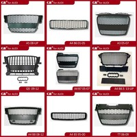 Auto accessories aftermarket in chrome silver black style car front grille for Audi
