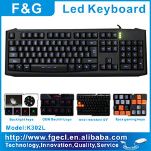 Latest high profile LED Gaming Keyboard Laser With 15 Macro Keys