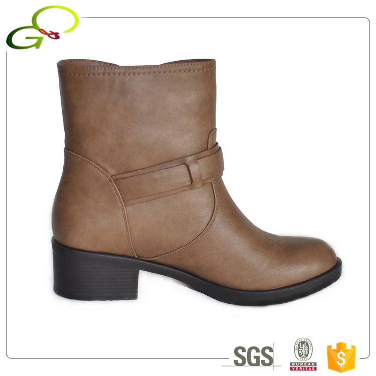 2032-1 Low price wholesale lady woman leather ankle boots