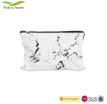 Pu Leather White Marble Makeup Bag Large Pouch Organizer Travel Holder Cosmetic Bag