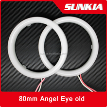 Super bright and long lifespan 80mm Auto Guide Light 5630 led Angel Eyes Ring for car led fog light