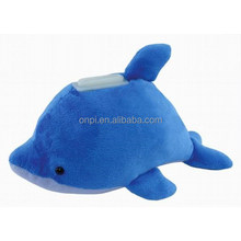Plush cute dolphine animal bank toy
