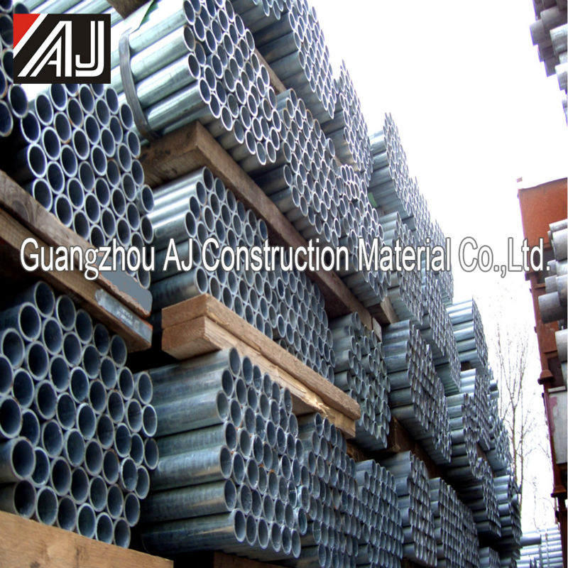 Guangzhou painted galvanized steel scaffolding material thick wall pipe for sale
