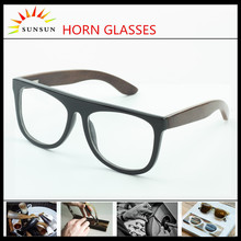wooden temple reading glasses buffalo horn eyeglasses frames with changeable temple