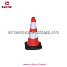 67-200-03 Soft pvc road cone with black base