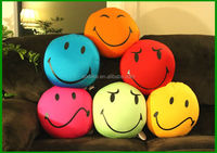 Smiley face home sofa cushion with microbeads filling