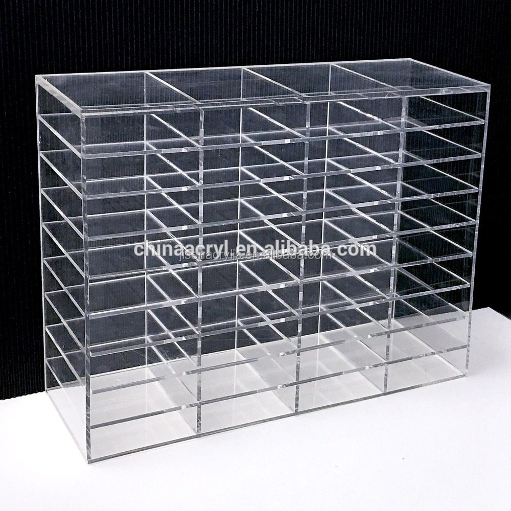 Clear Acrylic Eyelash storage box 36 compartments eyelash Extensions Display Stand