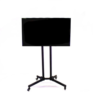 "Rotatable standing 55"" lcd advertising equipment with wheels"