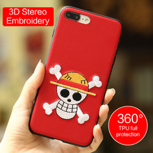Wholesale OEM Embroidery phone case for iphone7 case Back phone case for iphone 7 cover 360 full protective Soft tpu 7plus