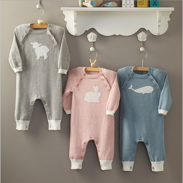 BL2001A Hot Sale Knitted Cotton Infants Baby Romper Carton Animal Infant Climb Costume Rompers crochet baby clothes romper