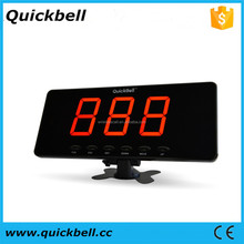 Restaurant wireless ordering system wireless nurse call button wireless waiter call bell display receiver