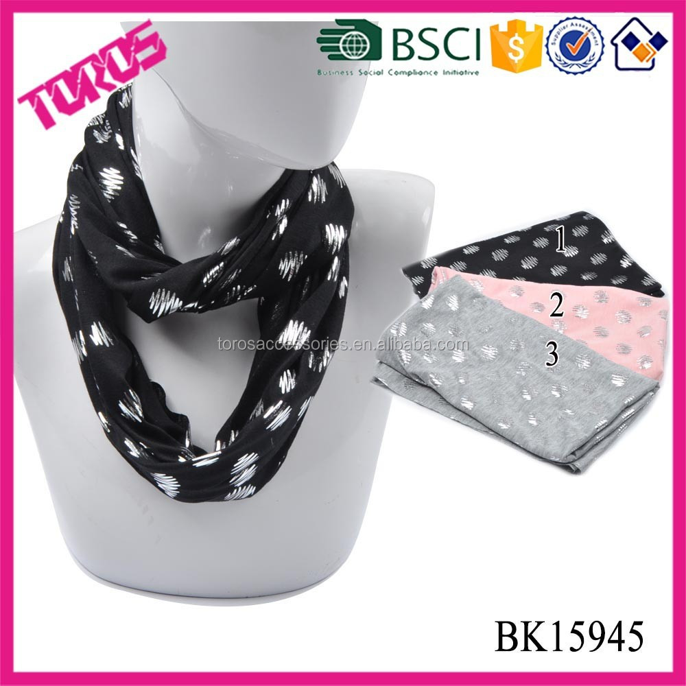 2015 Fashion Print Loop Scarf Wholesale Christmas Inifinity Scarf