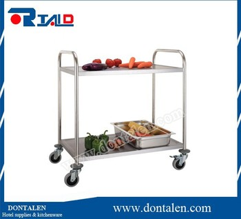 stainless steel kitchen dinning service trolley utility cart