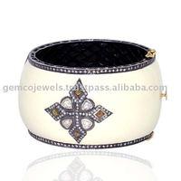 pave diamond bangle bracelet, 14kt gold bangle bracelet, wholesale jewelry