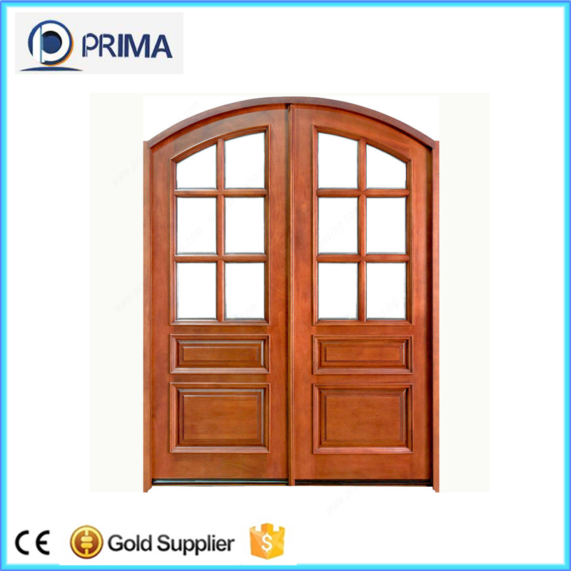 China supply main wooden round top doors interior