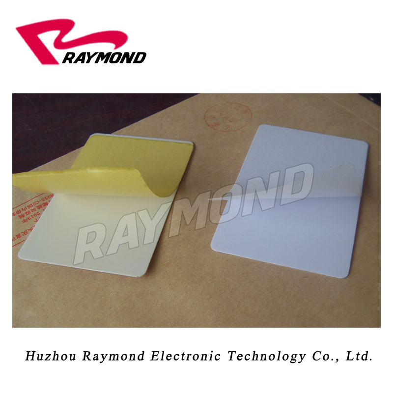 Blank CR80 Adhesive Sticky Cards work on Datacard printer