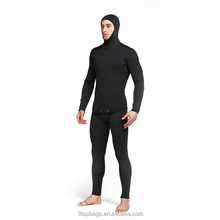 3mm two pieces neoprene hooded spearfishing scuba diving wetsuit