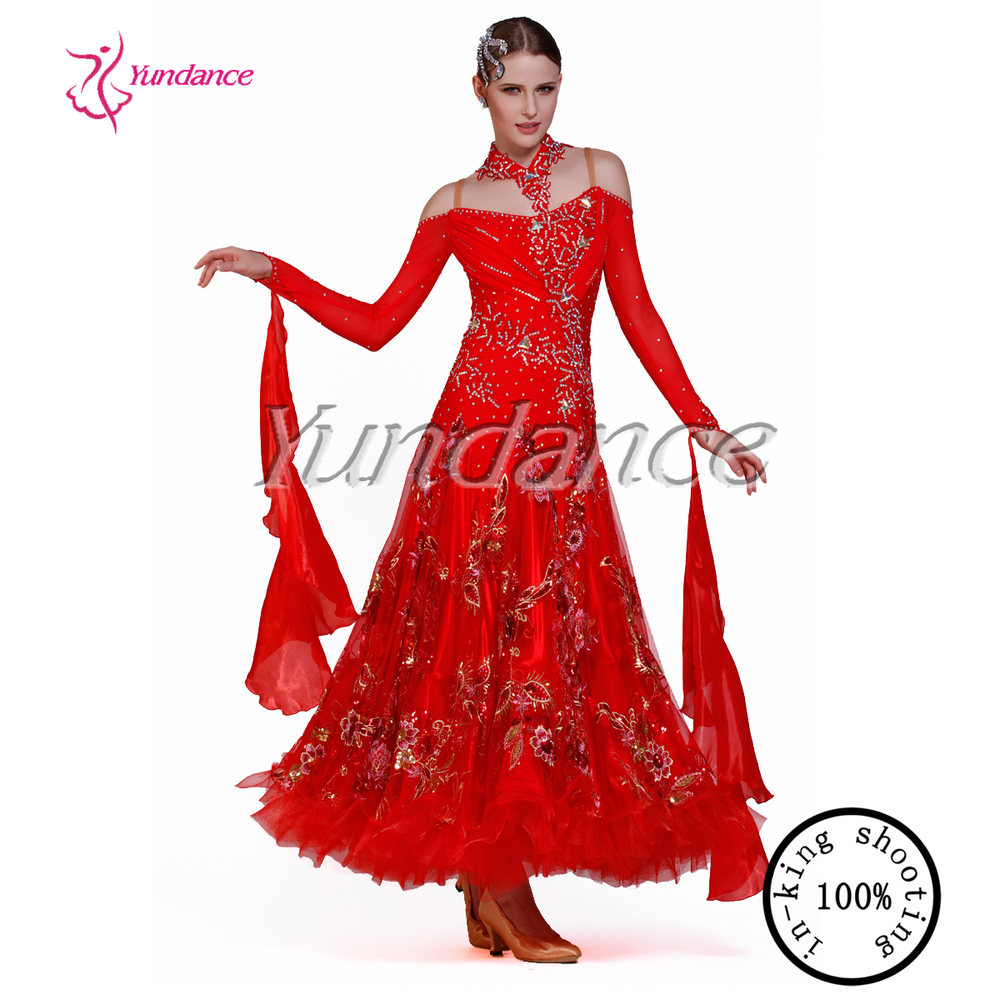 2015 New design red lyrical dress B-11512