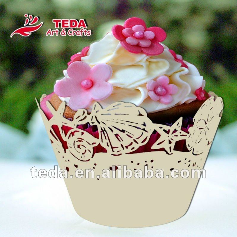 Seashell style cupcake wrapper for wedding ZB-083