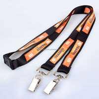 Promotional fashion bright color double hook hand strap camera design lanyards for sale